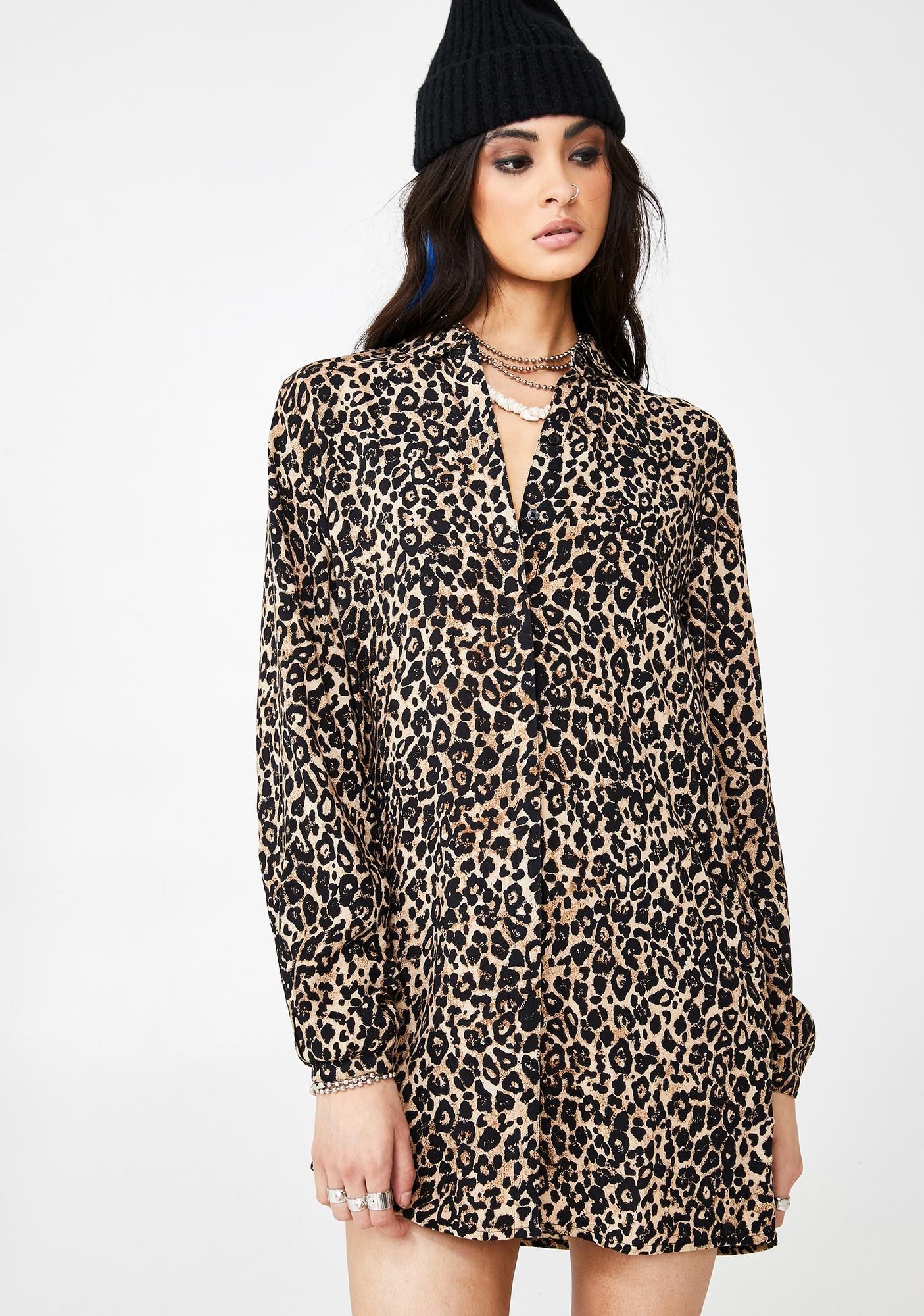 Volcom Fad Friend Leopard Button Down