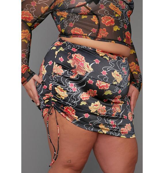 Poster Grl Fierce Honest Confessions Ruched Mini Skirt