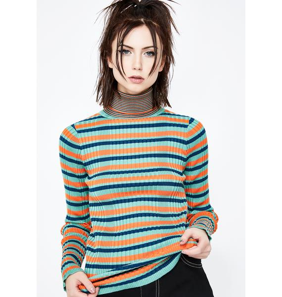 In The Past Striped Sweater