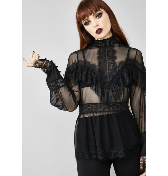 Widow Psychic Sinner Sheer Blouse