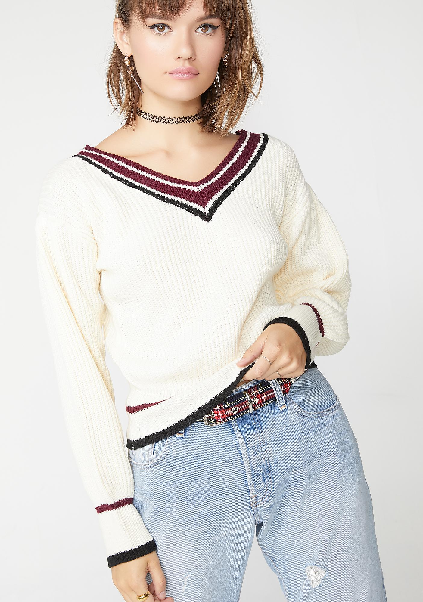 College Prep V Neck Sweater