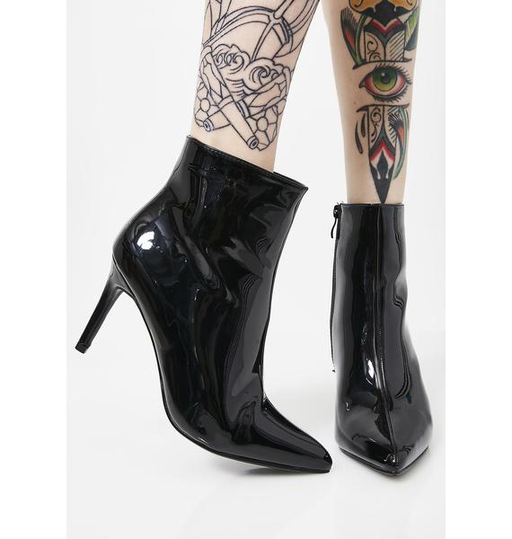 Smooth Talker Patent Booties
