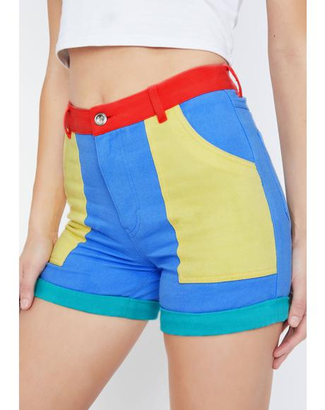 Primary Instincts Colorblock Shorts