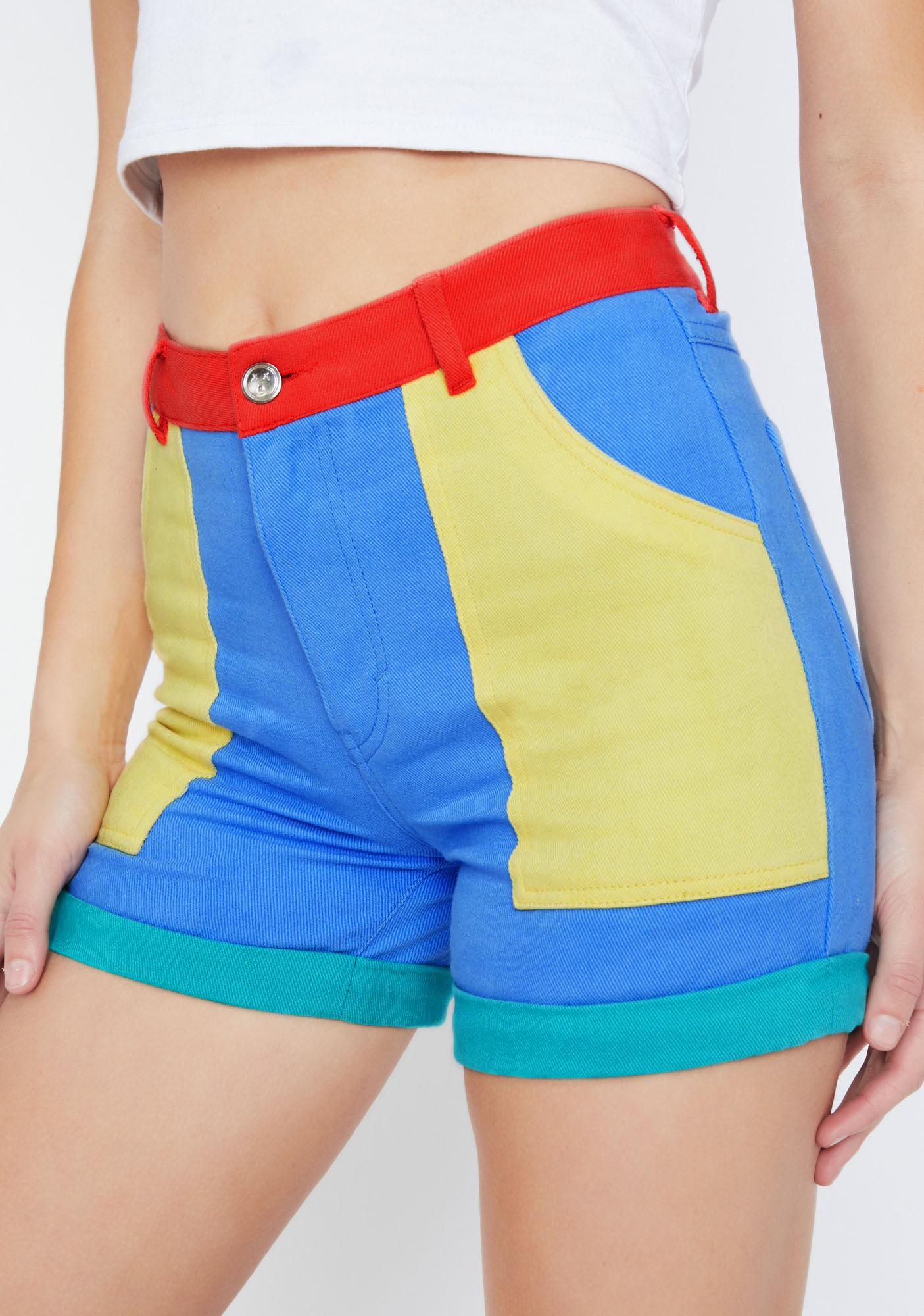 Current Mood Primary Instincts Colorblock Shorts