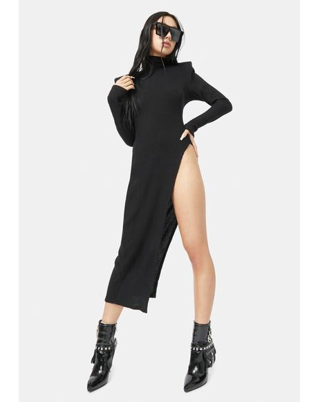 Noir Sly Life Turtleneck Mid Length Sweater