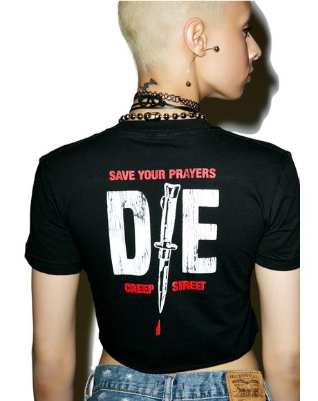 Just Die Crop Tee