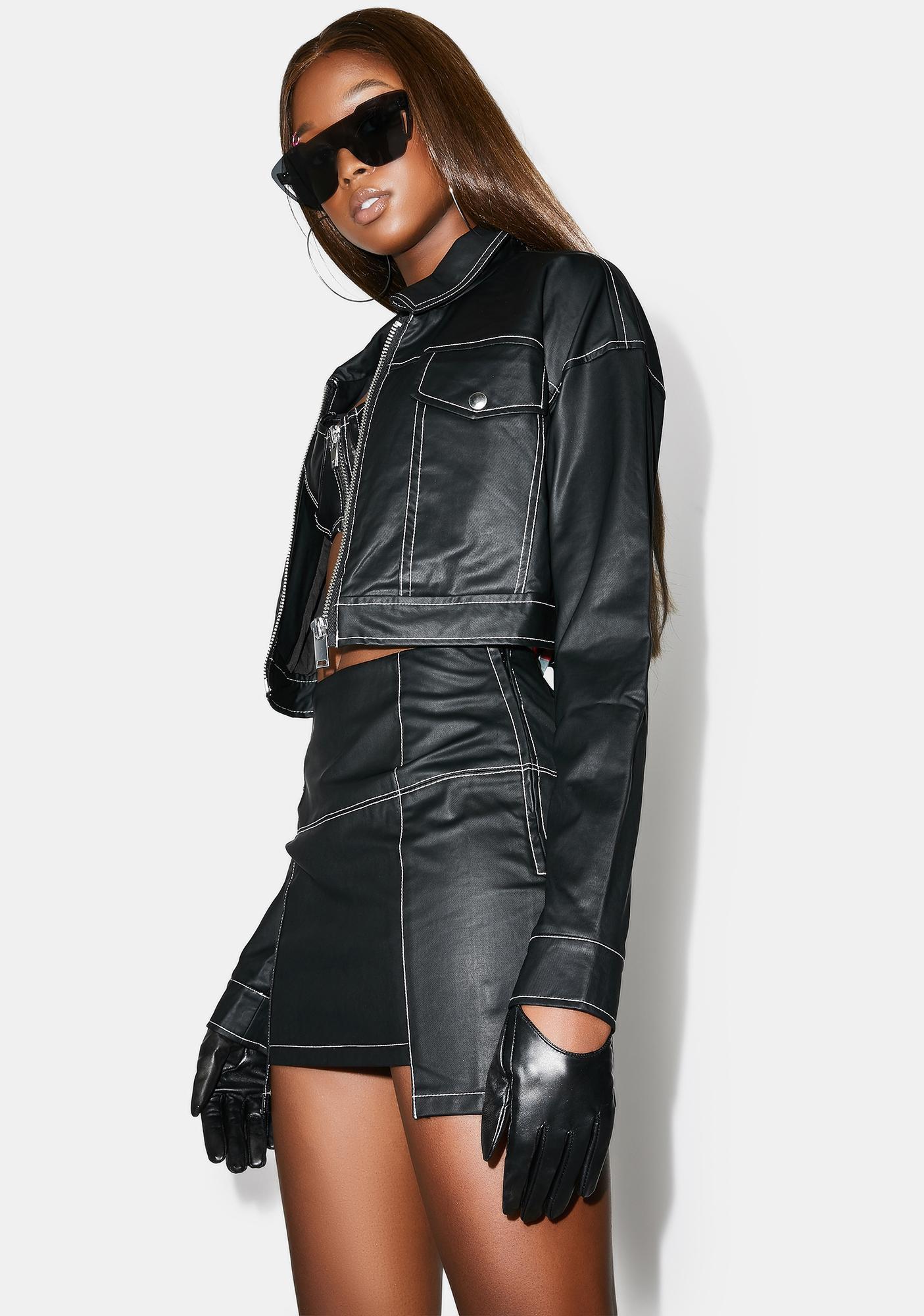 Poster Grl No Hard Feelingz Mini Skirt