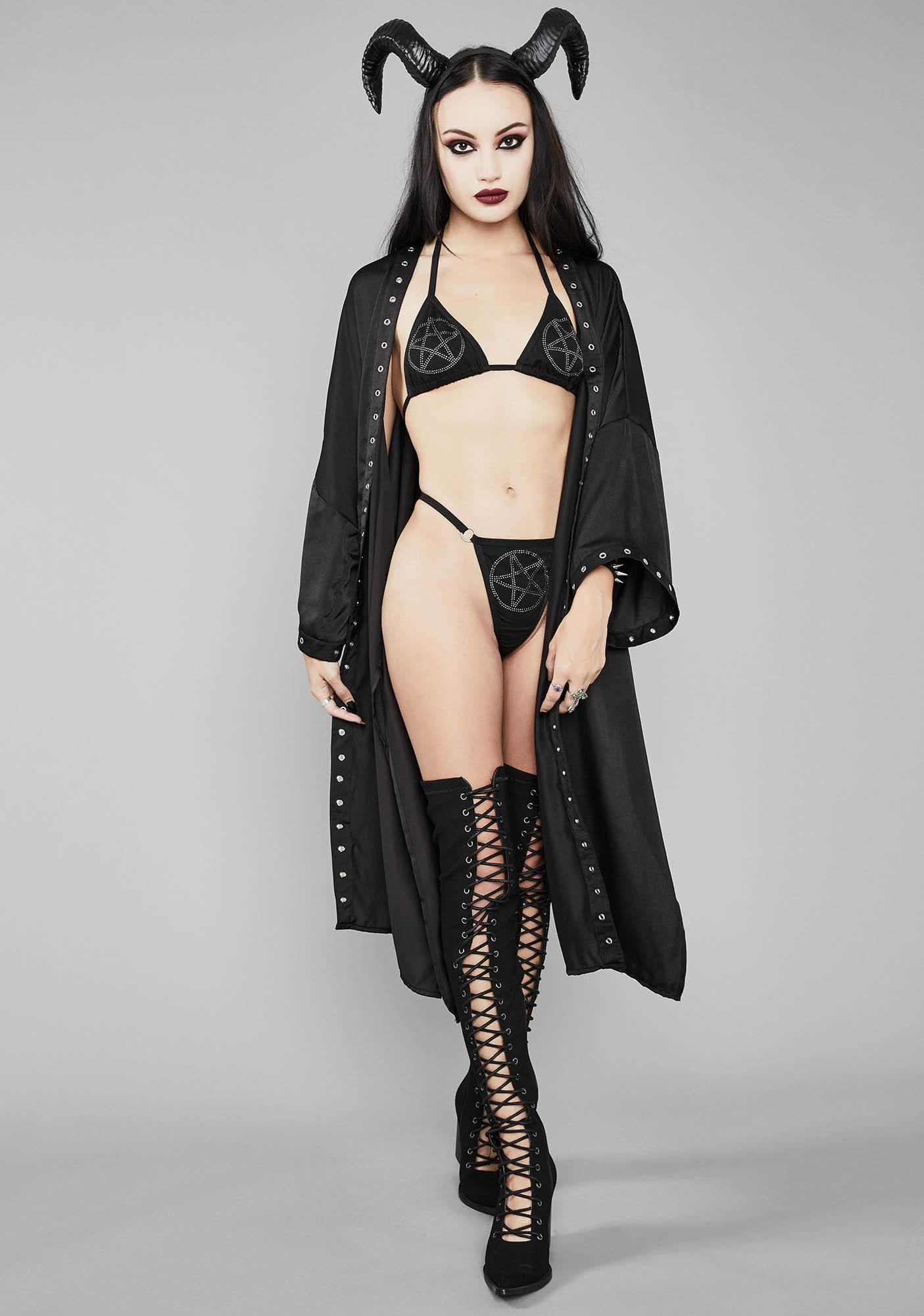 Widow Satanic Storm Grommet Kimono