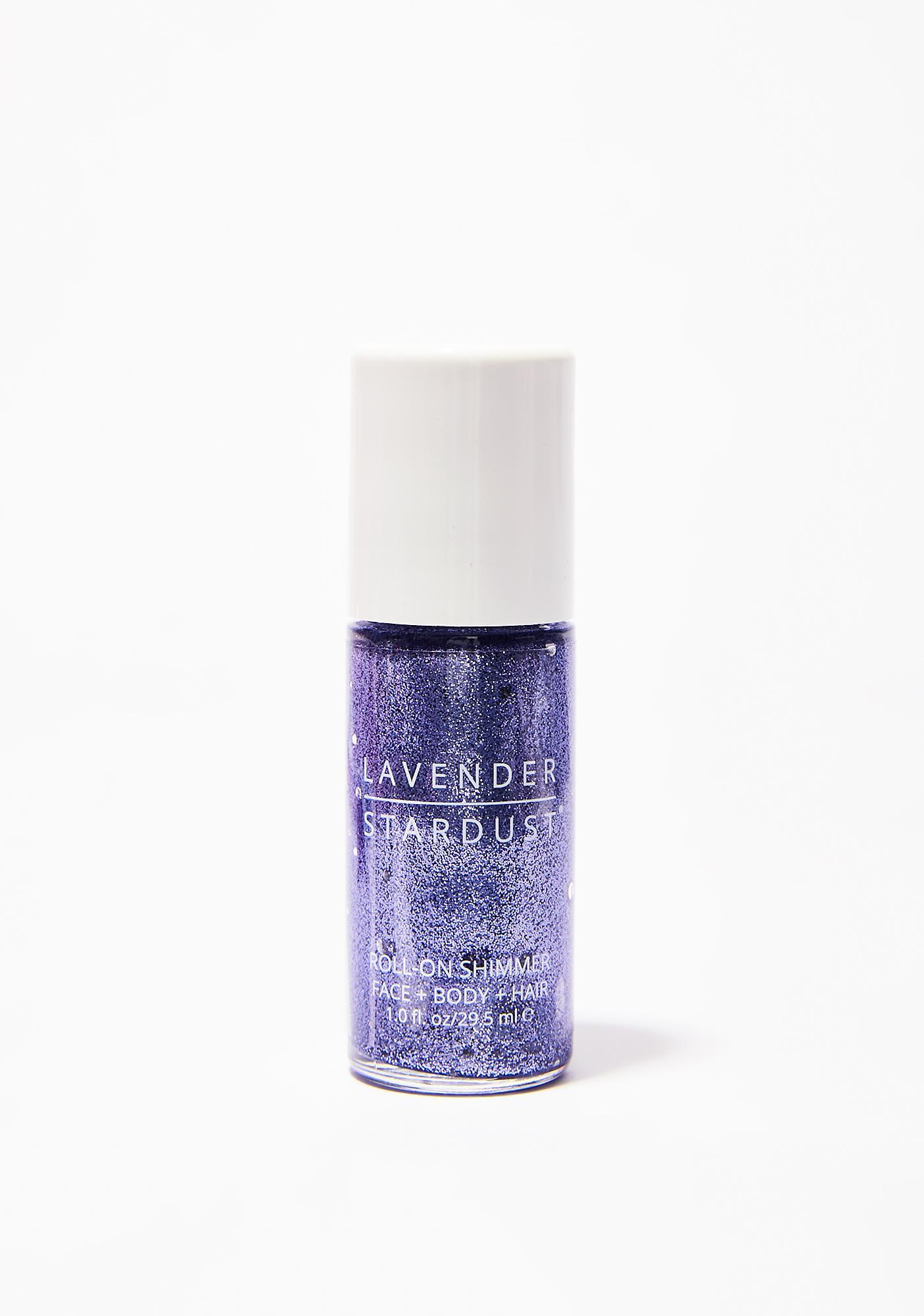 Lavender Stardust Amethyst Roll-On Shimmer Body Glitter