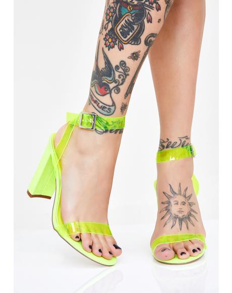 Shockin' Glam Clear Heels