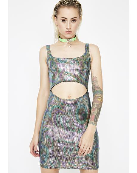 Toxic Taste Oil Slick Mini Dress