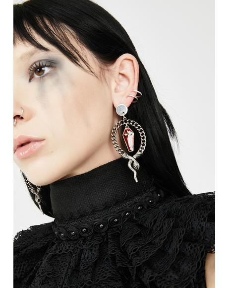 Ouroboros Infinite Chain Earrings