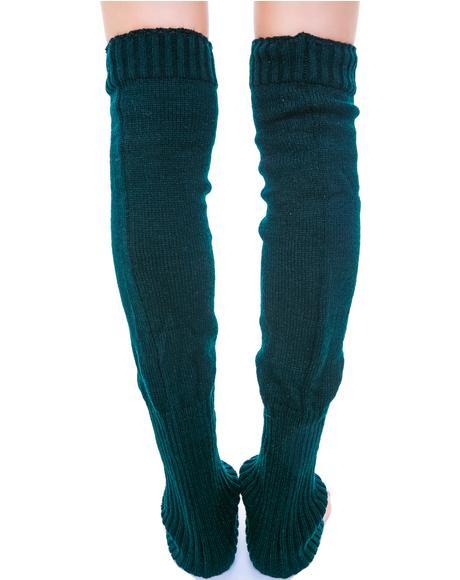 Prep School Knit Leg Warmers