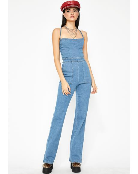 Down To Boogie Strappy Jumpsuit