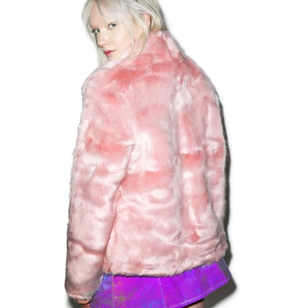 Powderpuff Faux Fur Jacket