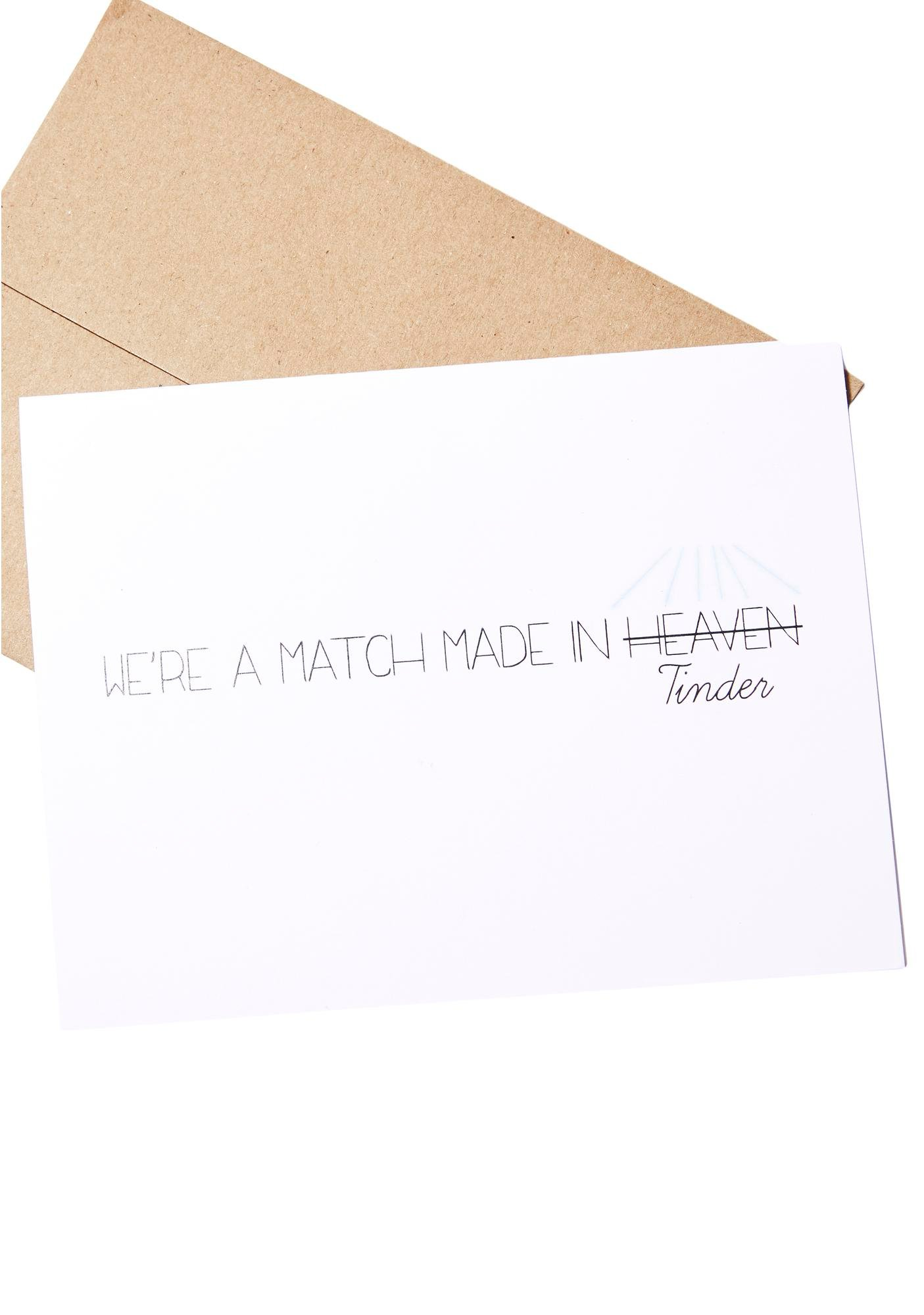 It's A Match Card