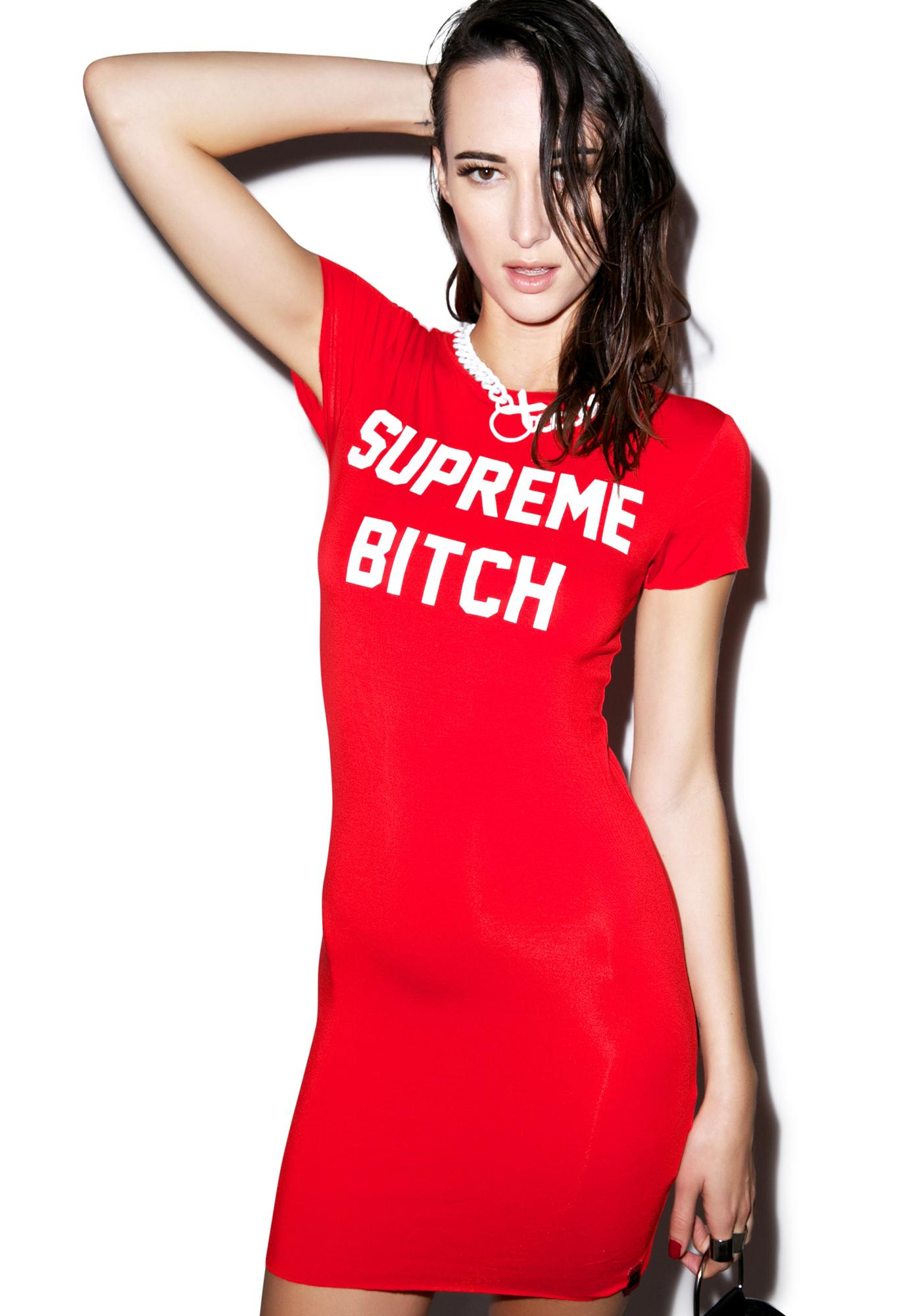 Married to the Mob Supreme Bitch T Dress