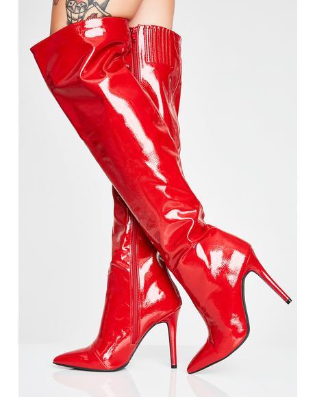 Lit Ultraviolet Thigh High Boots