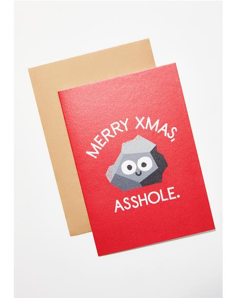 Merry Xmas Asshole Card