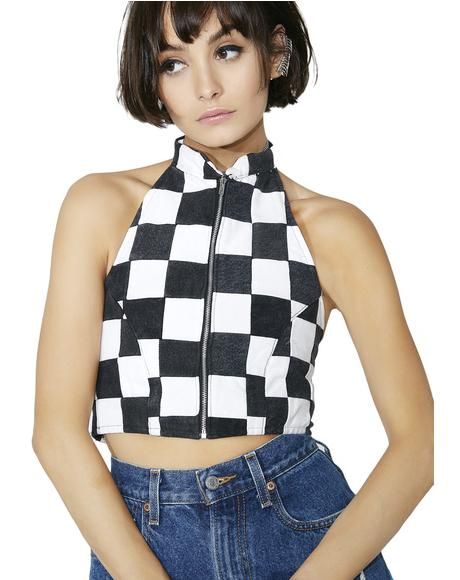 Checkered Bustier