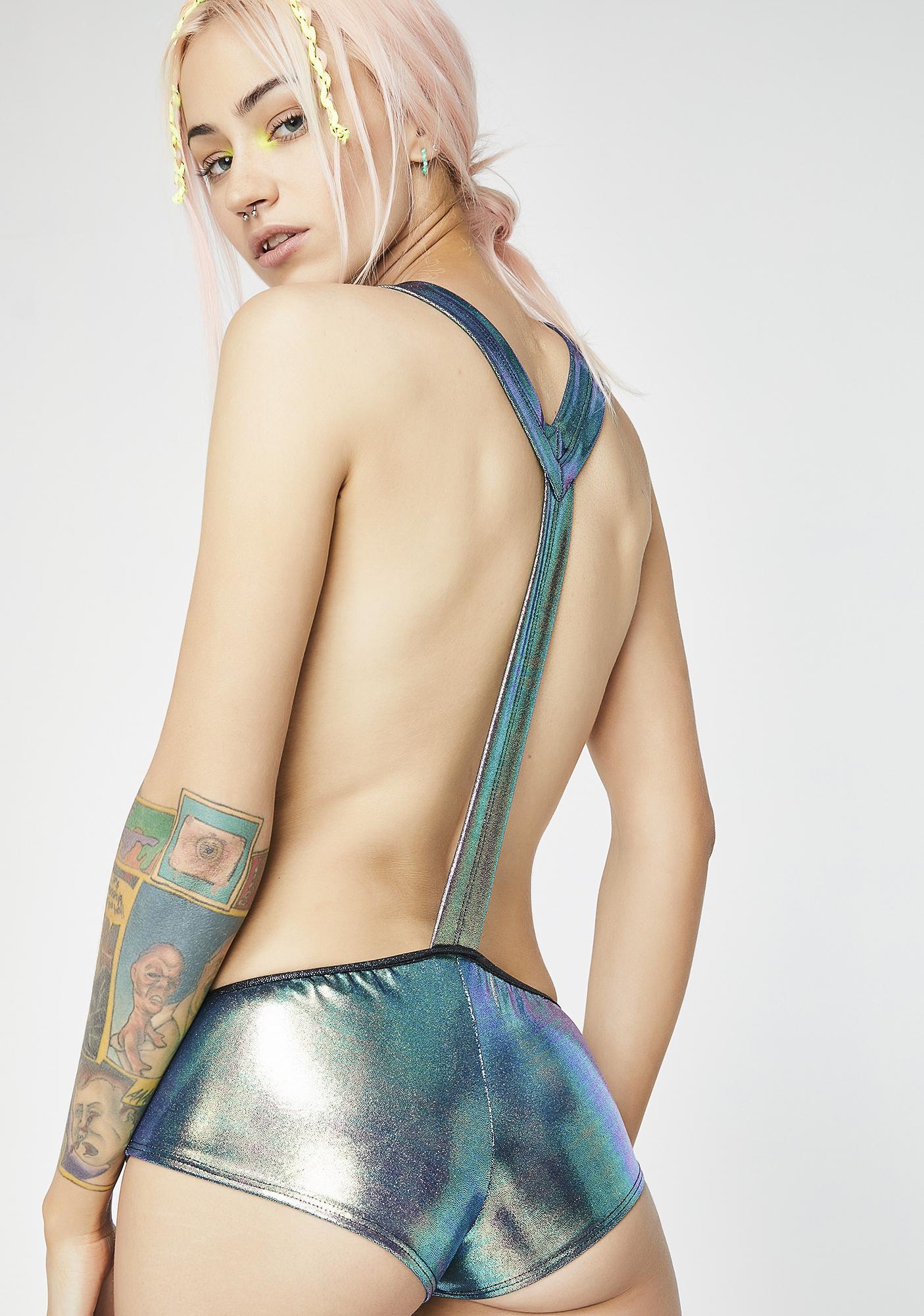 Sea Liquid Lazers Suspender Shorts