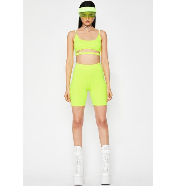 Slime Sugar High Biker Short Set