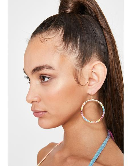Ova the Rainbow Hoop Earrings