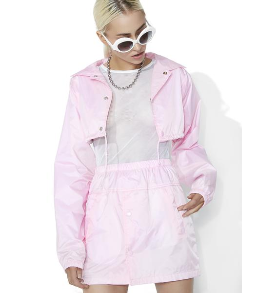 Syren Nylon Mini Skirt