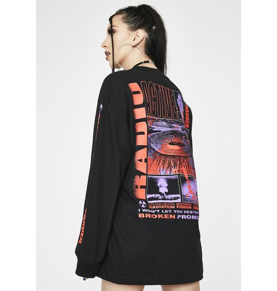 BROKEN PROMISES CO Black Radioactive Graphic Tee