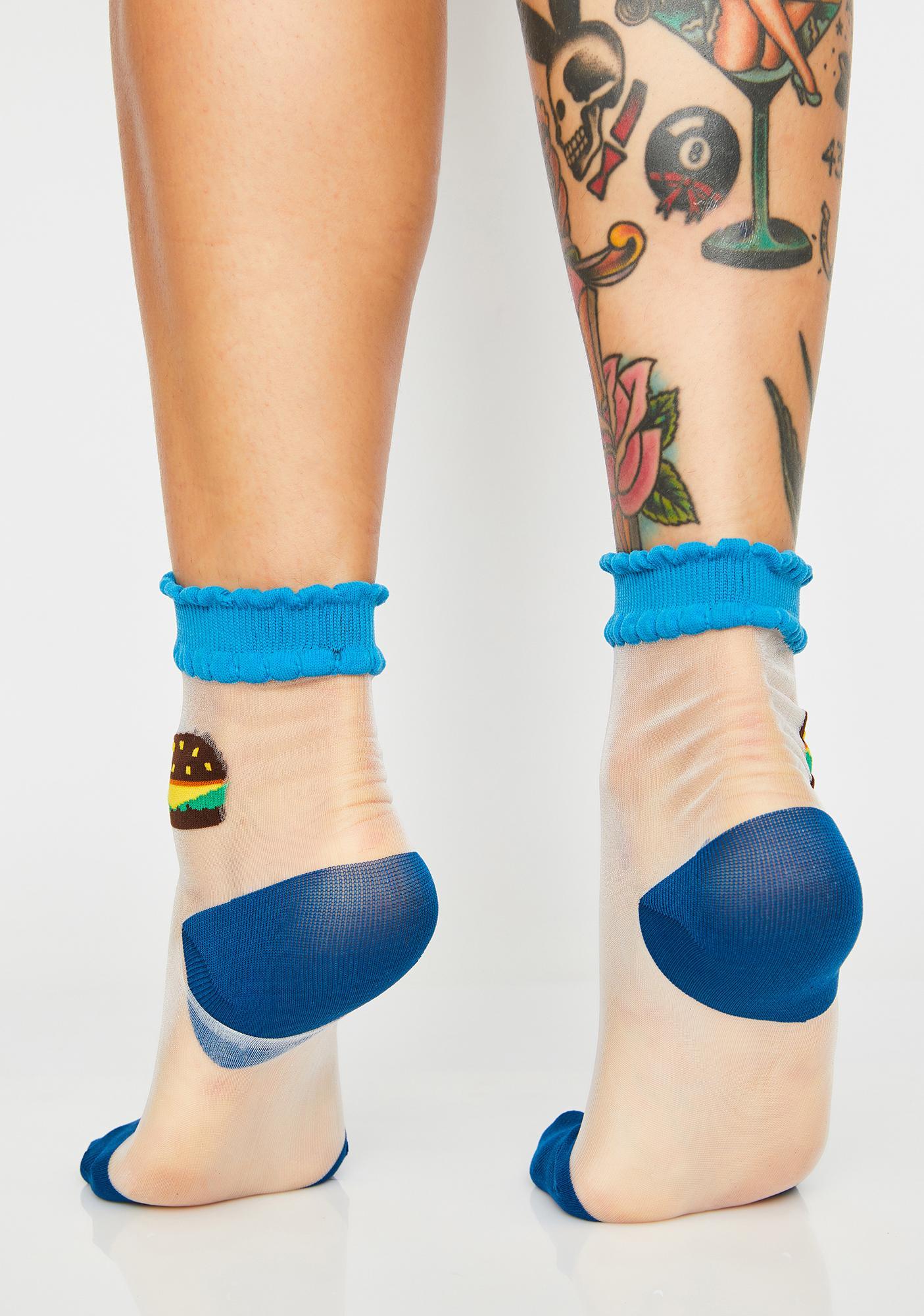 Burger Bite Sheer Socks