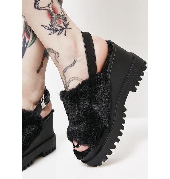 Onyx Catchin' Feels Platform Sandals