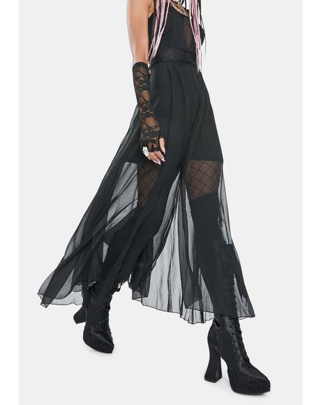 Slay The Night Mesh Overlay Dress