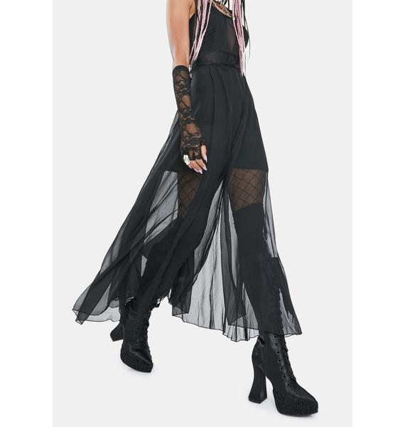 Punk Rave Slay The Night Mesh Overlay Dress