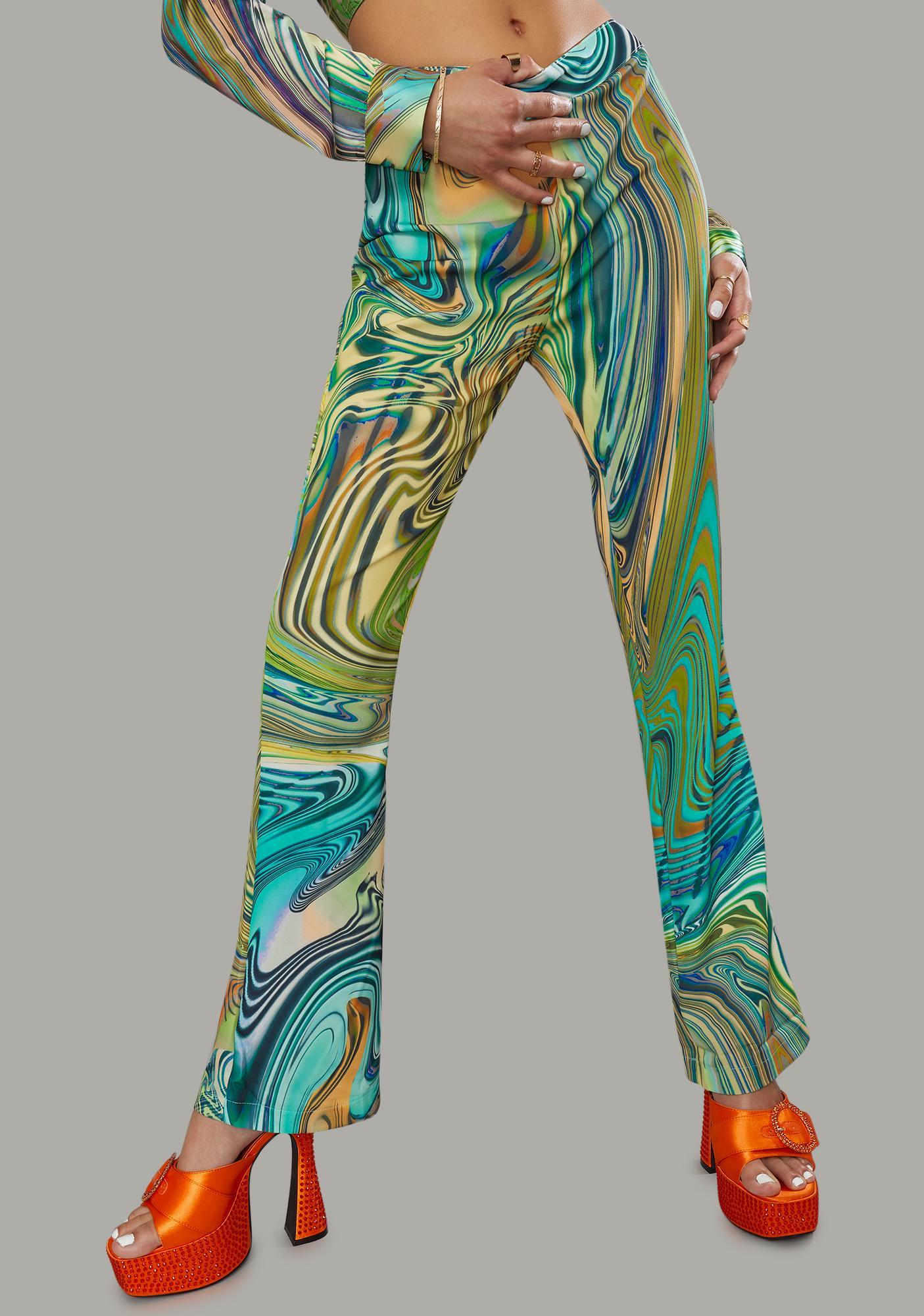 Poster Grl Hypnotic Habits Kick Flare Pants