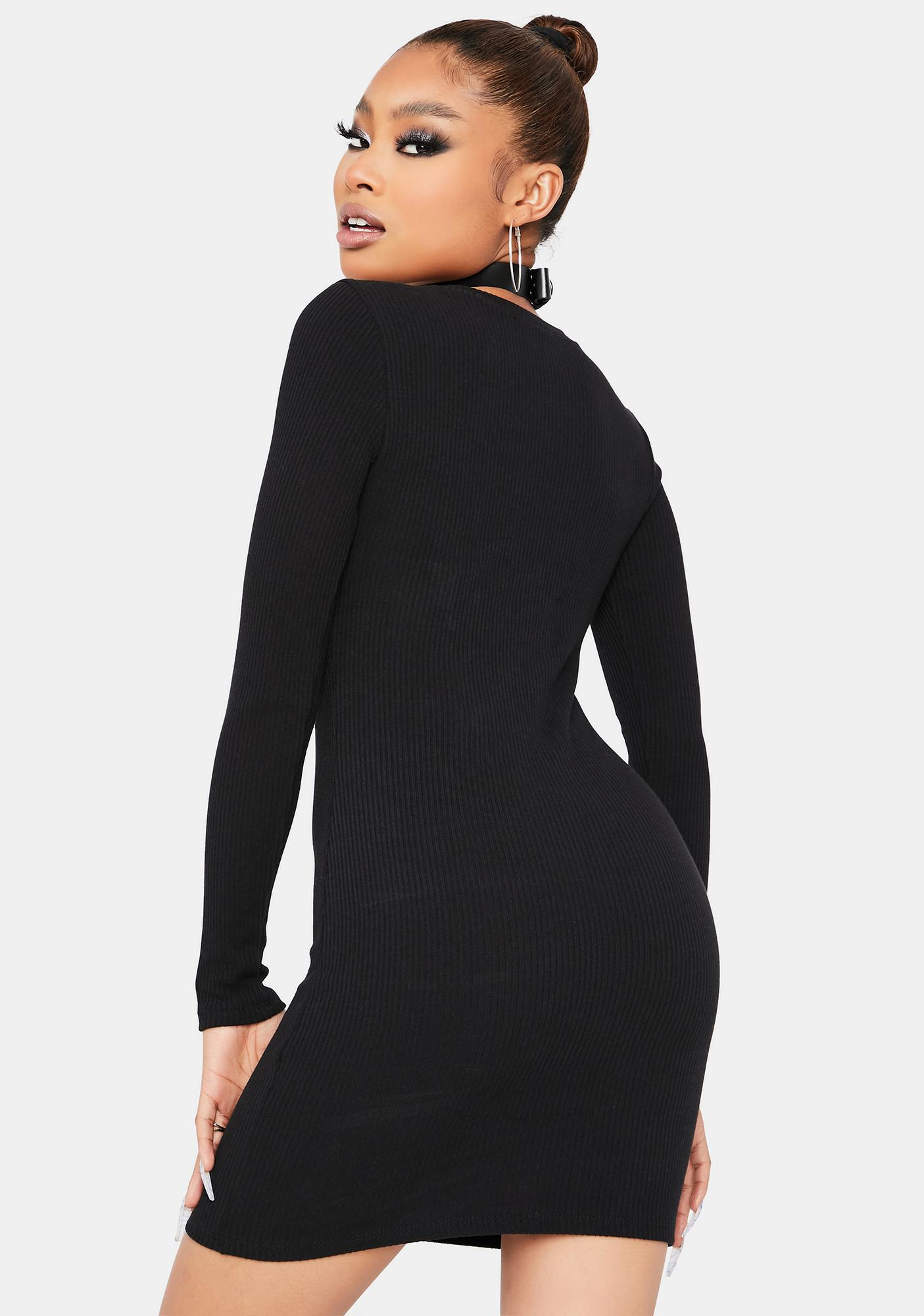 Dark Back 2 Back Long Sleeve Mini Dress