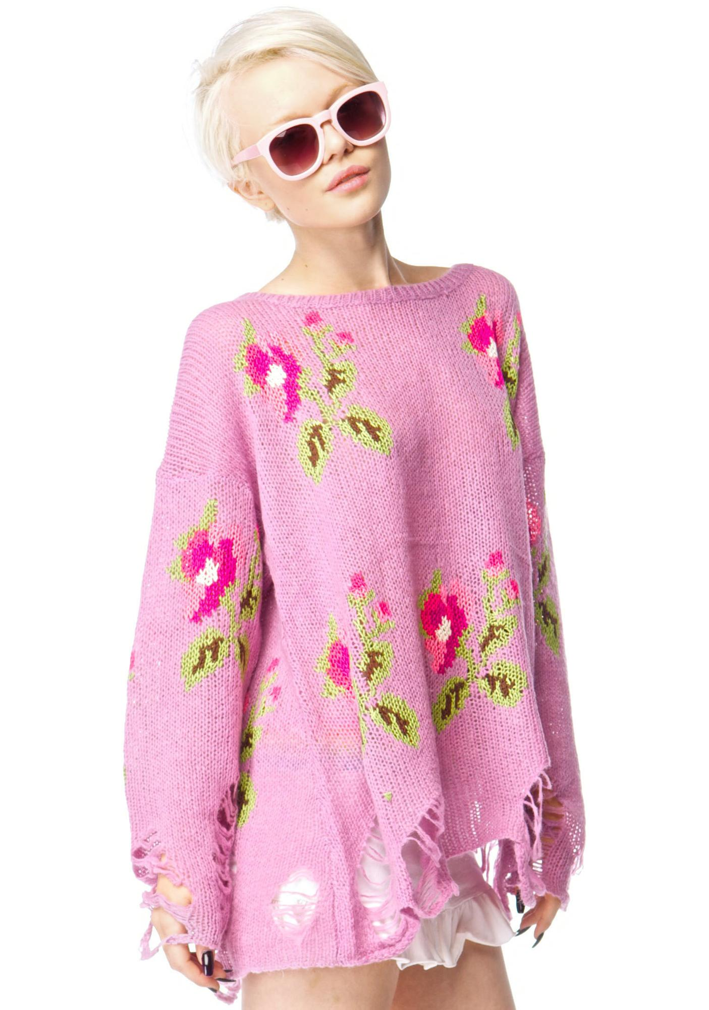 Wildfox Couture Little Edie Lennon Sweater