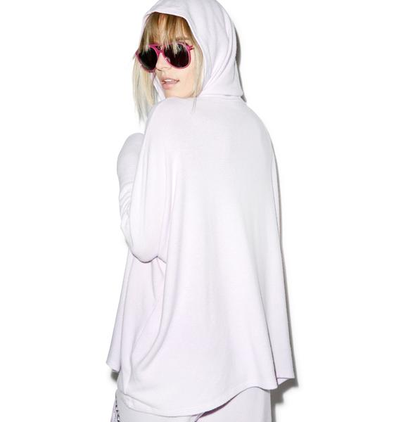 Lauren Moshi Wilma Sleep Mask Oversized Hooded Pullover