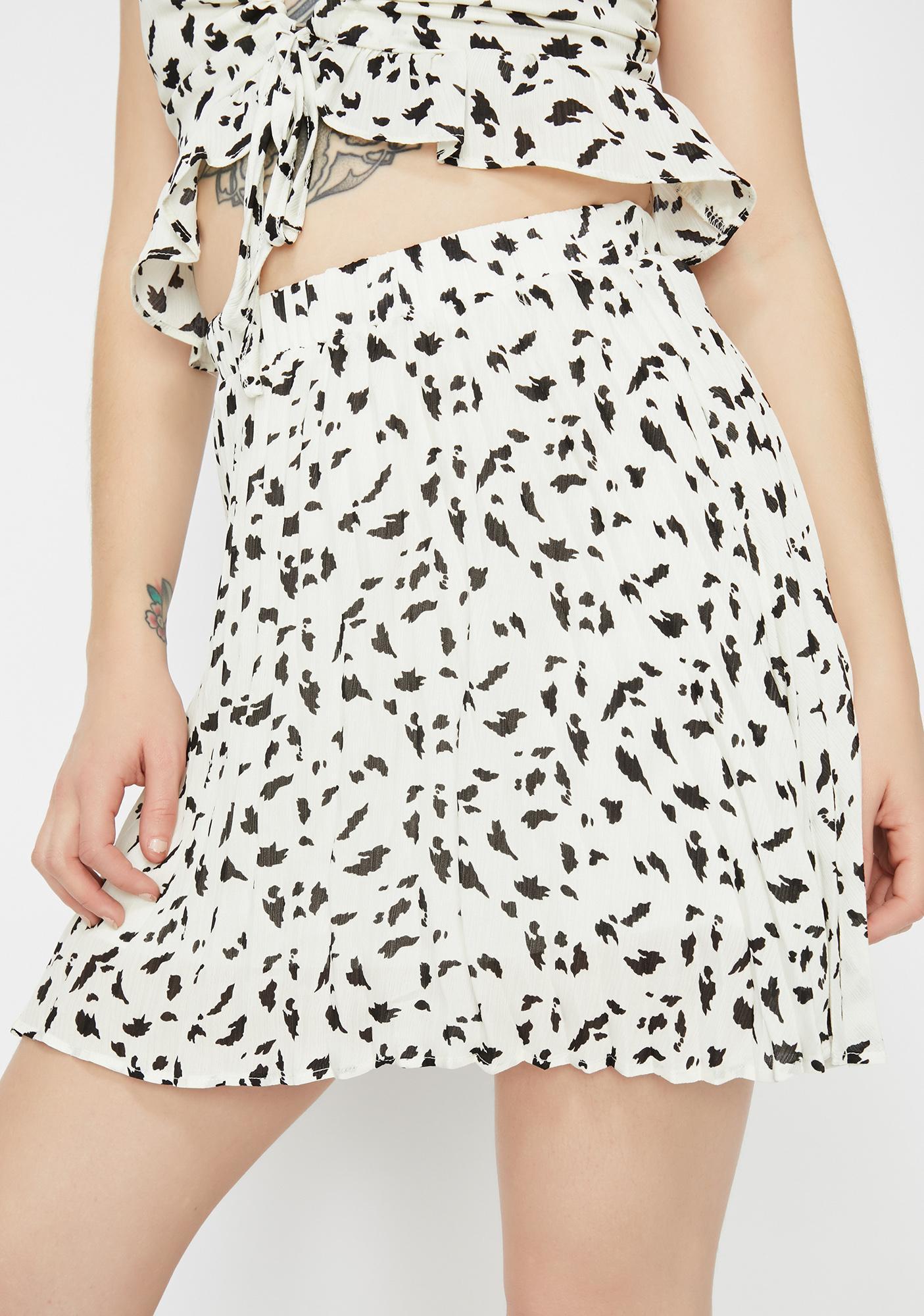 1eb373f150 Pleated Spot Print Mini Skirt | Dolls Kill