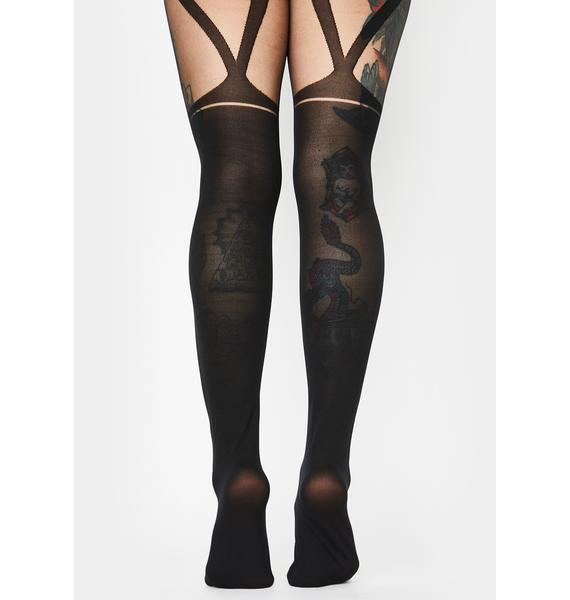Midnight Compromise Tights