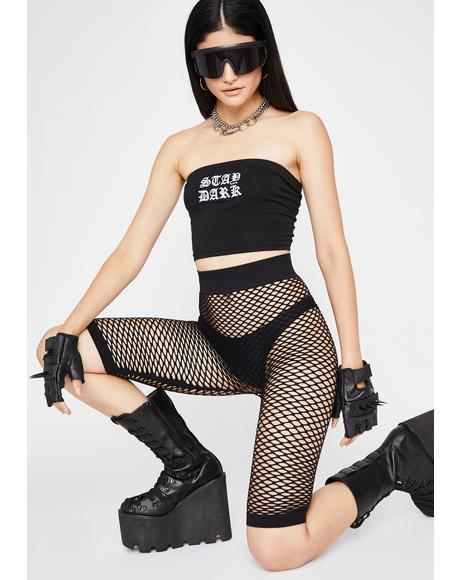 Rockin' Everywhere Fishnet Shorts