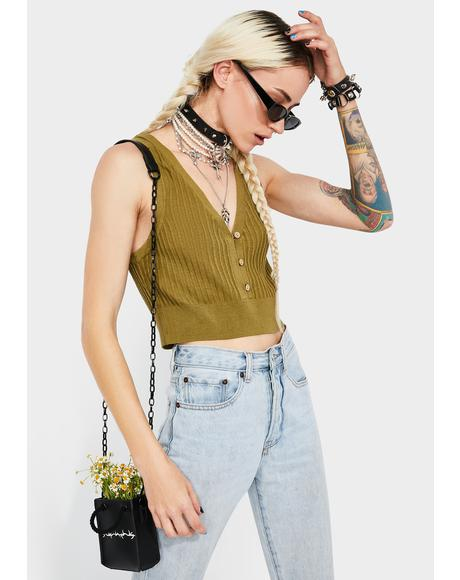 Olive Saturday Morning Crop Top