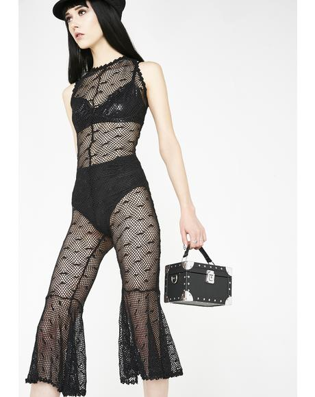 Into Midnight Sheer Jumpsuit