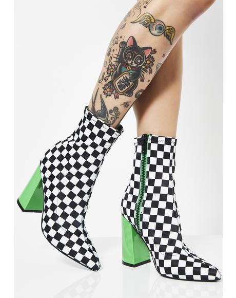 Check Yo Self Sock Boots