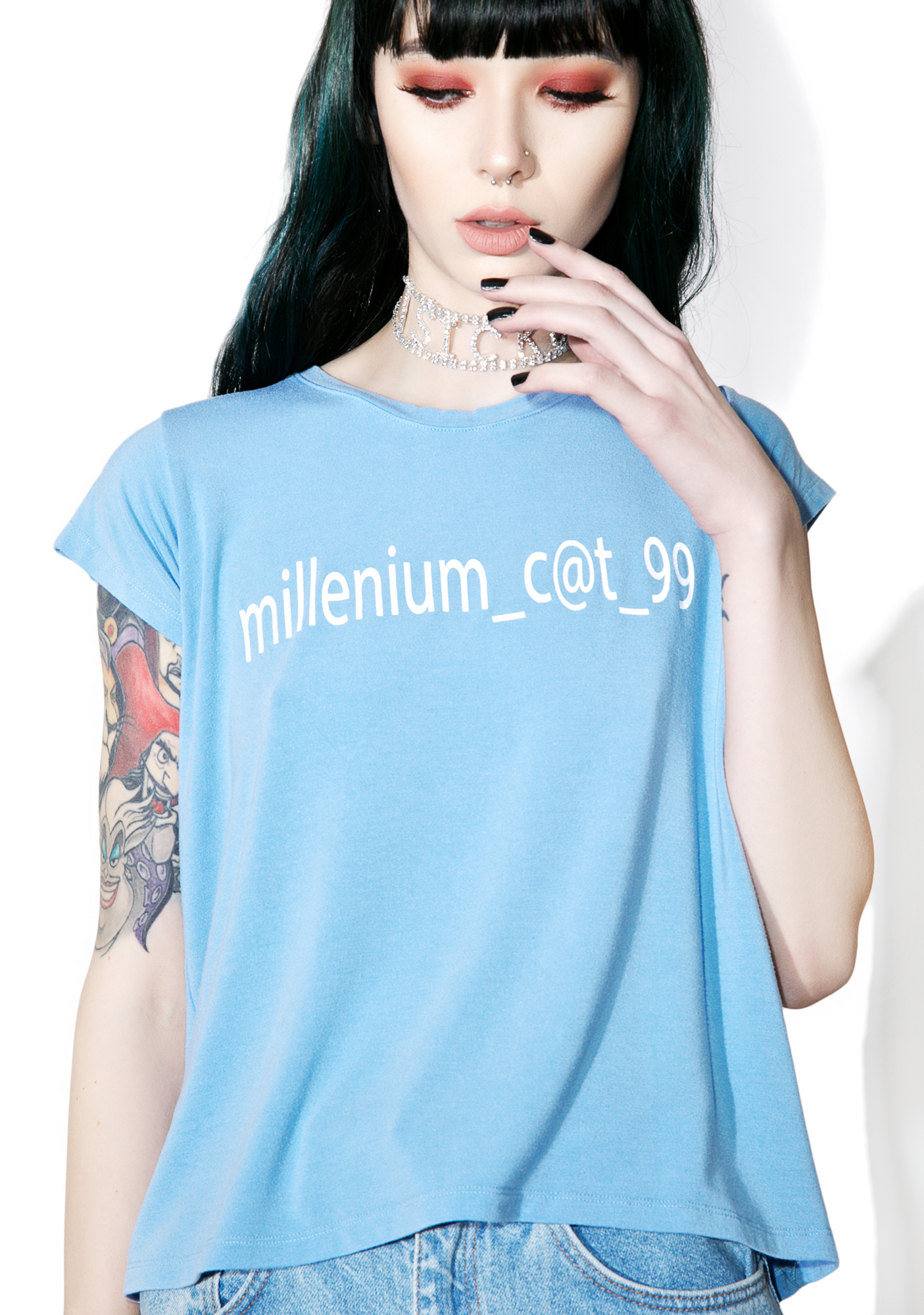 Brashy Millennium Cat Fitted Tee