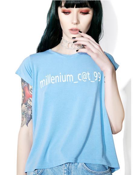 Millennium Cat Fitted Tee