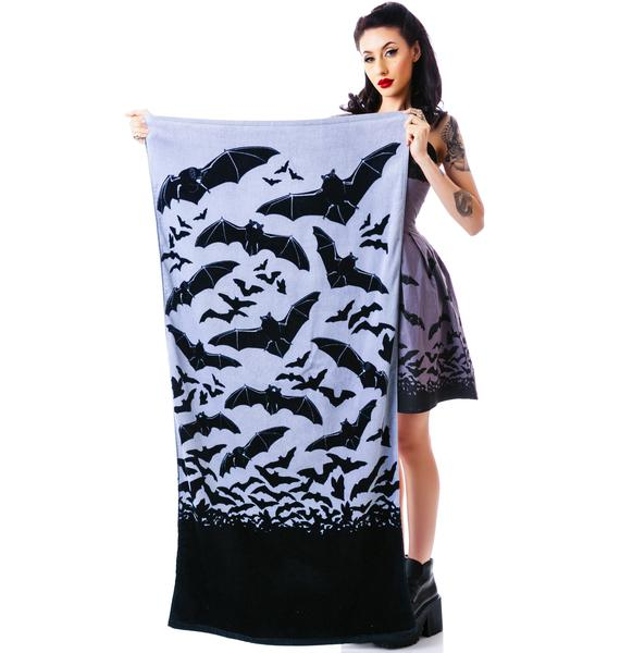 Sourpuss Clothing Bats in The Belfry Beach Towel