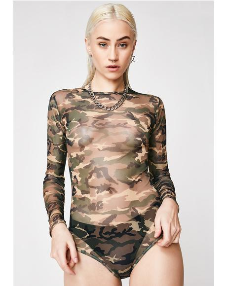 Chief It Up Camo Bodysuit