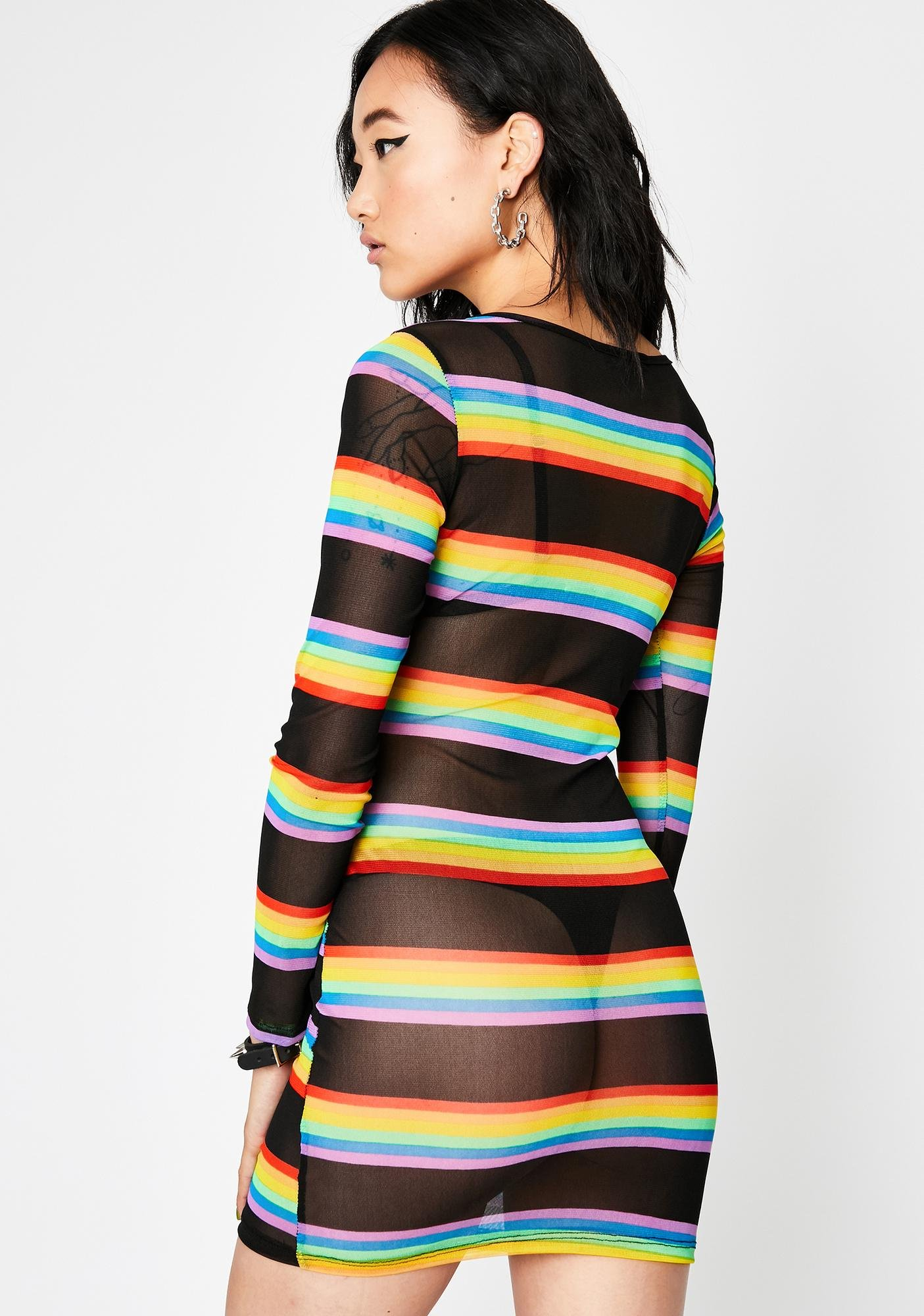 Onyx Saturated Visionz Sheer Dress