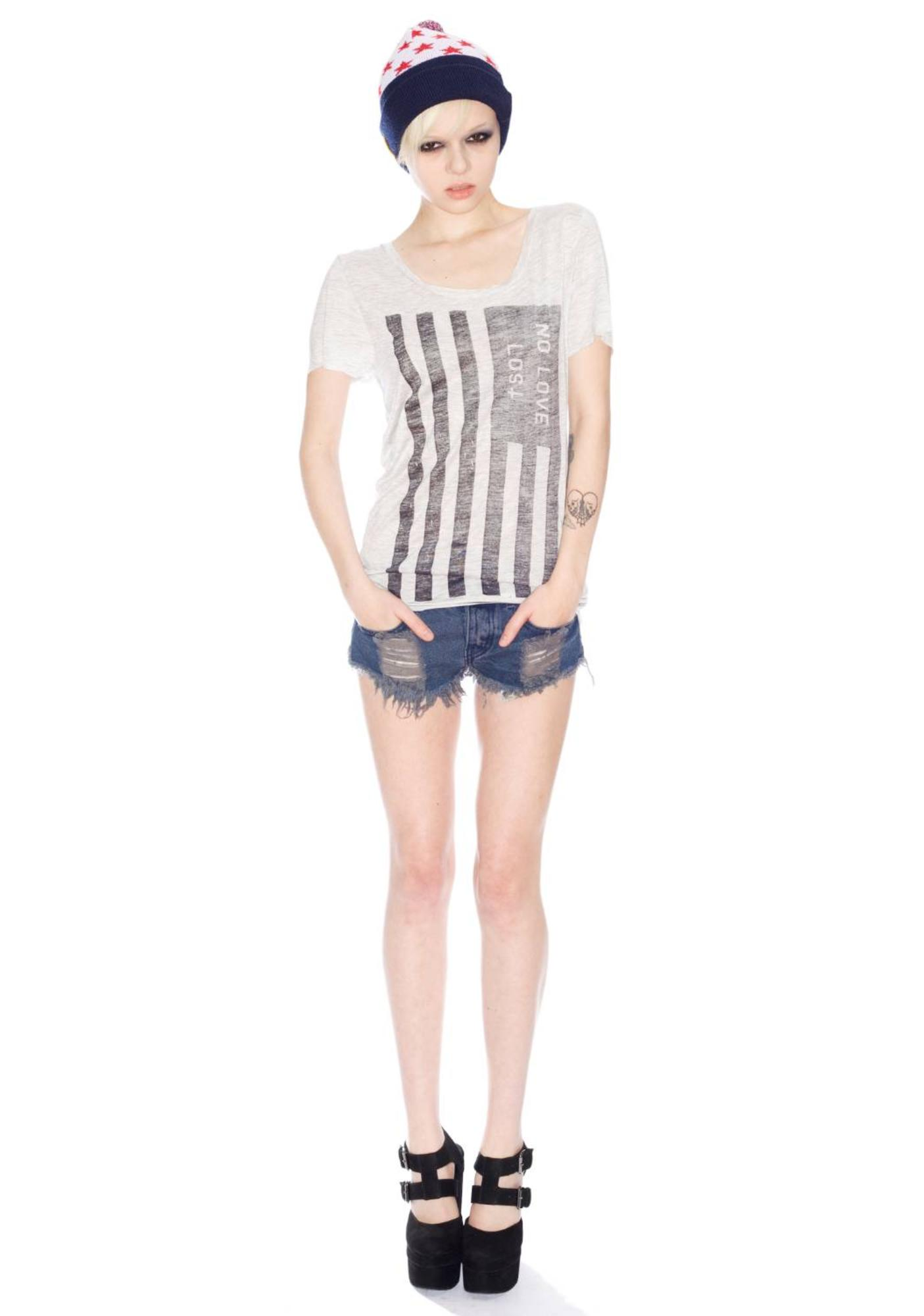 Zoe Karssen No Love Lost Oversize Loose Fit Short Sleeve