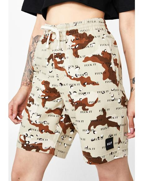 Camo Fuck It Easy Shorts